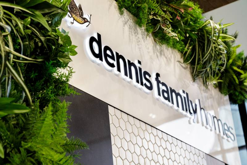 Dennis Family Homes New Office Signage