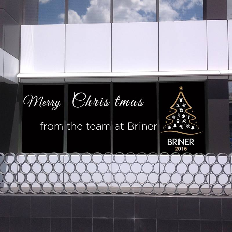 Use your windows to help build your brand this Christmas