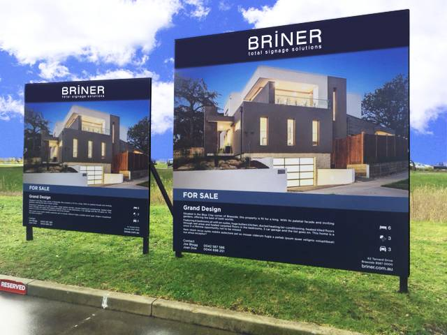 Real Estate Boards Signage Brand Collateral Display