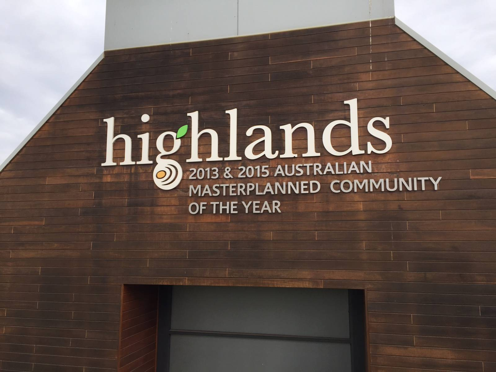 Highlands Fabricated Lettering