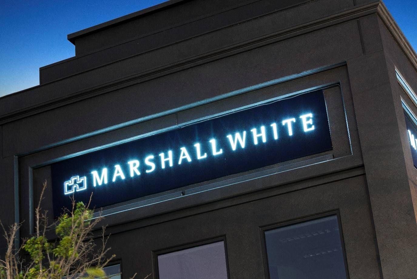 Marshall White Fabricated Lettering
