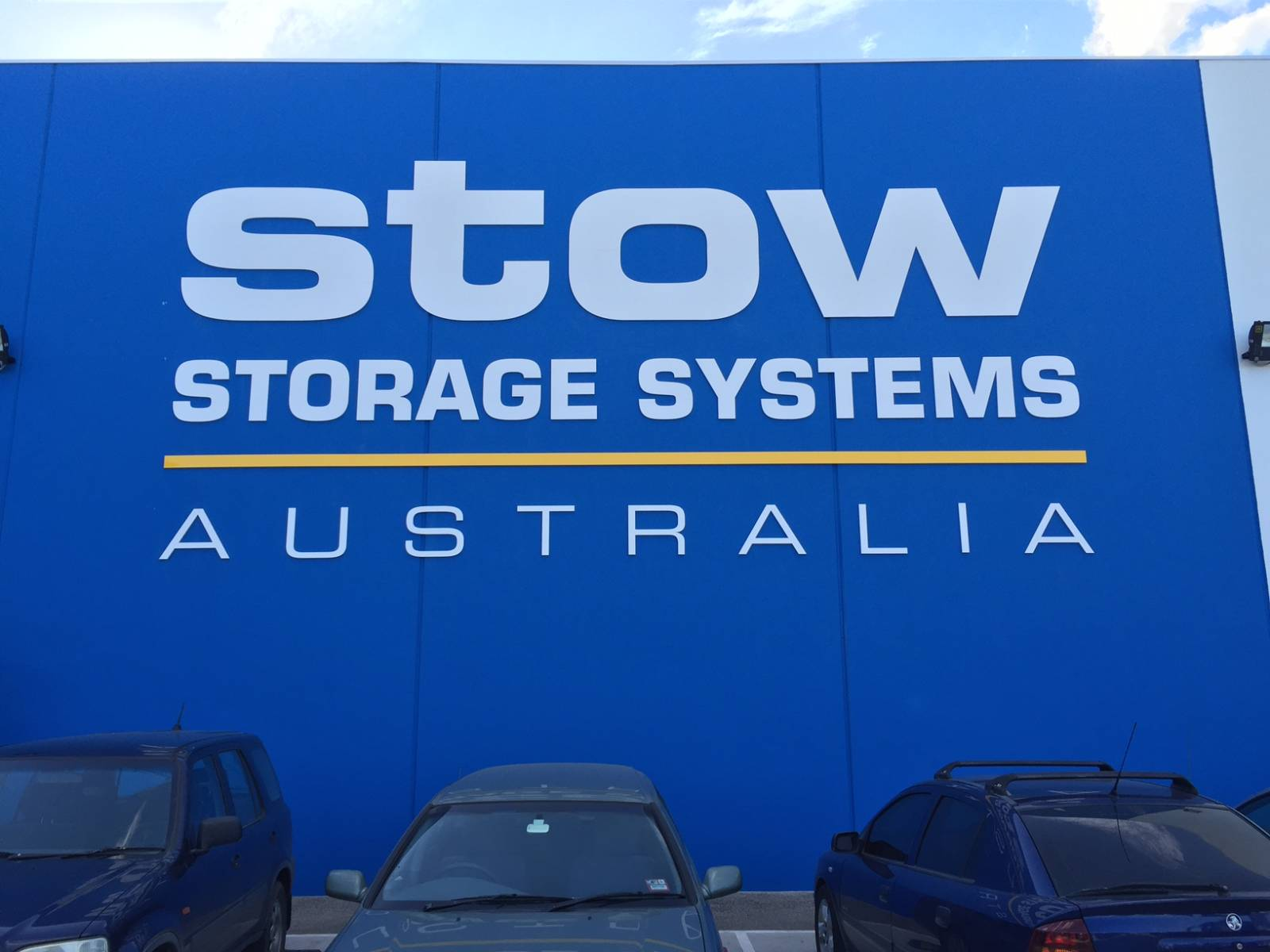 Stow Fabricated Lettering
