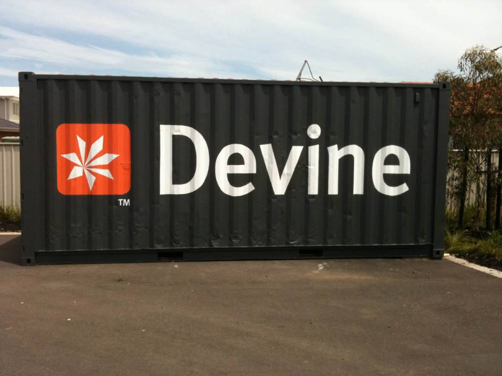 Container Sign Stackers Uv Resistant Banners Storage
